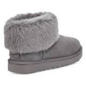UGG Classic Mini Fluff Suede Ankle Boots